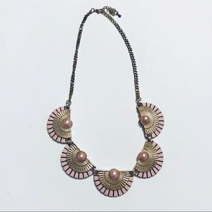 Siramara Jewelry - Pink Art Deco Necklace